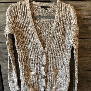 American eagle open knit cardigan